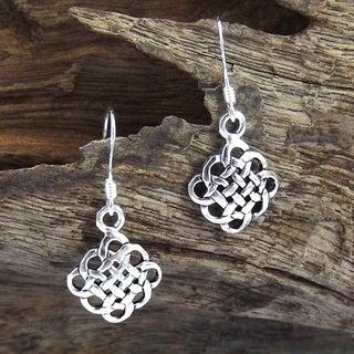 Cute Celtic Knot .925 Silver Dangle Earrings (Thailand)