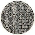 Safavieh Handmade Moroccan Cambridge Black Wool Rug (4' Round)