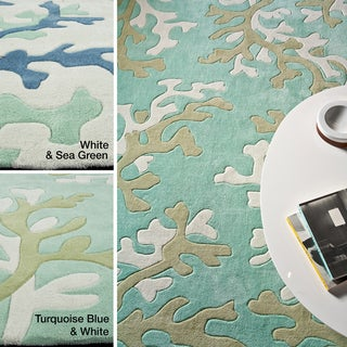Hand-tufted Transitional Abstract Area Rug (7'6 x 9'6)