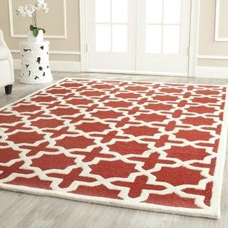 Safavieh Handmade Moroccan Cambridge Rust Wool Rug (8' x 10')