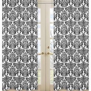 Damask Print Isabella 84-inch Curtain Panel Pair