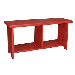 Rouge Pine Cubby Storage Bench