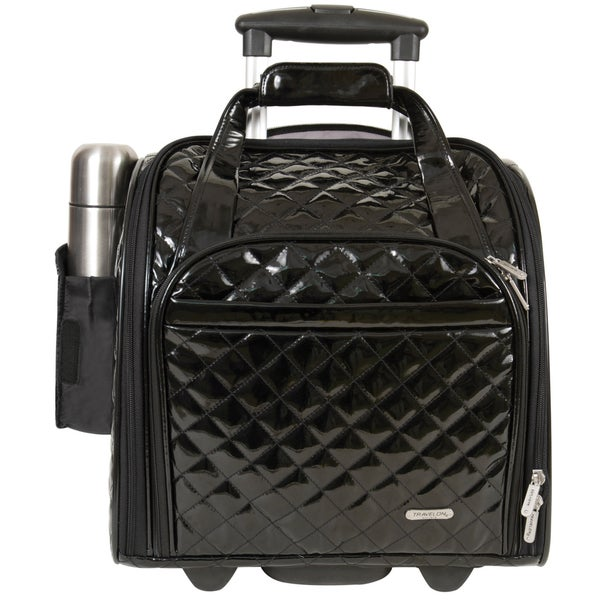 Travelon Black Wheeled Underseat Carry On With Back Up Bag