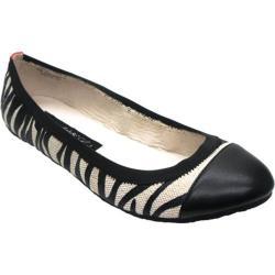 Women's Footzyfolds Adrian Black/Black Toe