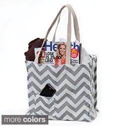 Women's Chevron Print Weatherproof Tote Bag