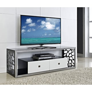 Black Glass Modern Mosaic 60-inch TV Stand
