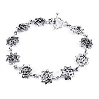 Sterling SilverAum or Om Sun Link Bracelet (Thailand)