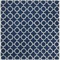 Safavieh Handmade Moroccan Dark Blue Wool Area Rug (7' Square)