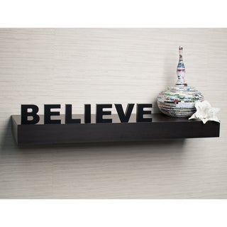 Laminate 'Believe' Inspirational Wall Mount Shelf