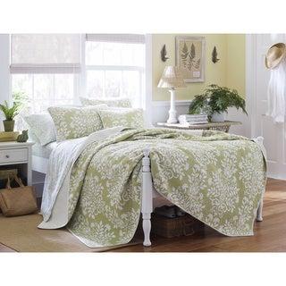 Laura Ashley Rowland Sage 3-piece Quilt Set