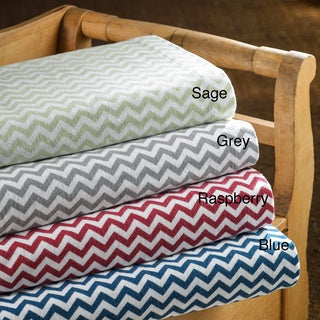 Luxury German Chevron Flannel Sheet Sets or Pillowcase Separates