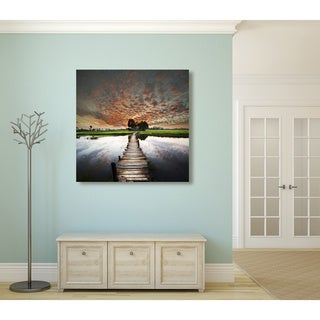 Tropical River Oversized Gallery Wrapped Canvas