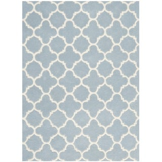 "Safavieh Handmade Moroccan Blue Wool Geometric Rug (8'9"" x 12')"