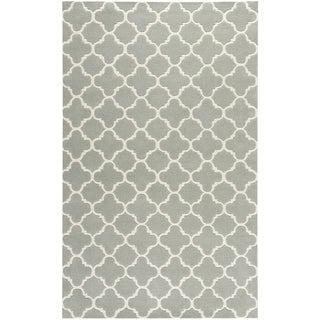 "Safavieh Handmade Thick-Pile Moroccan Gray Wool Rug (8'9"" x 12')"