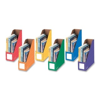 4-inch Magazine File Assorted Colors (Pack of 6)