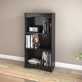 Sonax Hawthorn 48-Inch Midnight Black Bookcase