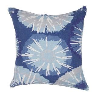 Contemporary Duck Canvas Blue 18-inch Decorative Pillow