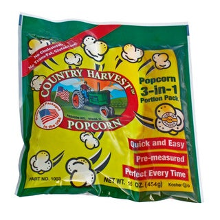 Country Harvest Popcorn Portion Packs for 12-ounce Machine (Case of 24)