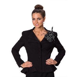 Grace Gallo New York Women's 'Kaylee' Black Structured Evening Jacket