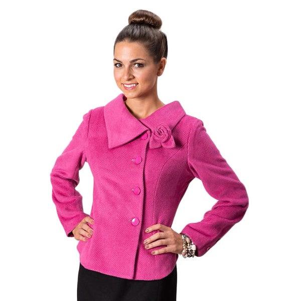 Grace Gallo New York Women's 'Lara' Pink Structured Evening Jacket