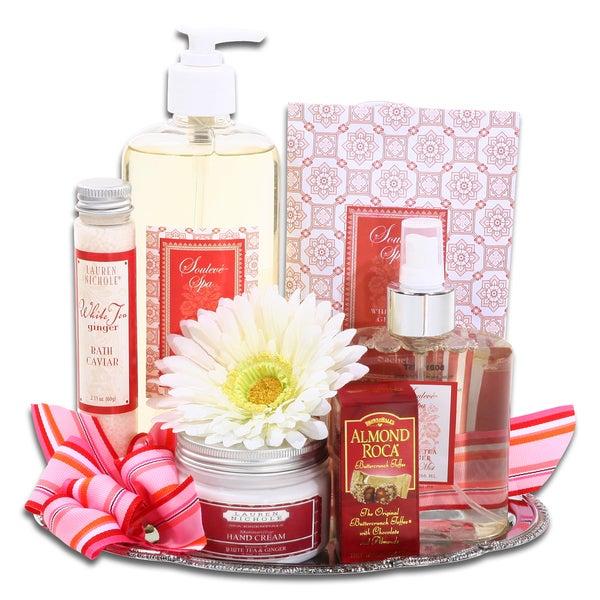 Alder Creek Gift Baskets Elegant Spa Gift Tray