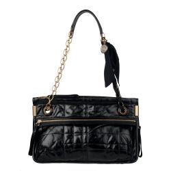 Lanvin Black Amalia Leather Crossbody Bag
