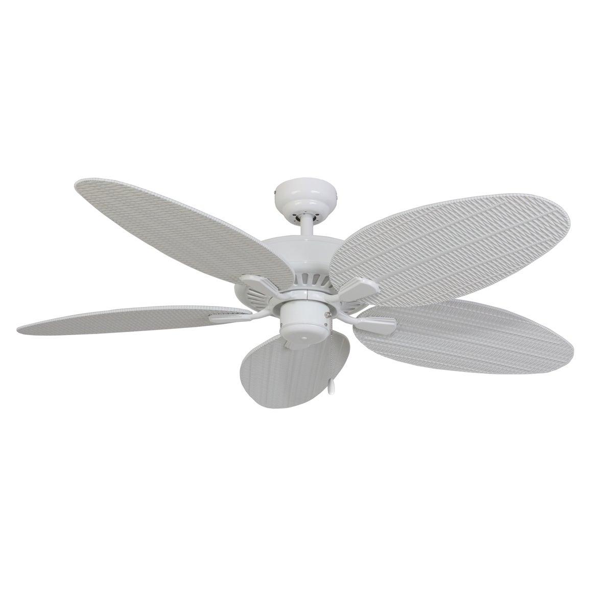EcoSure Siesta Key White 52-inch 5-blade Ceiling Fan