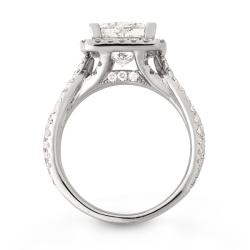 14k White Gold 4 2/5ct TDW Princess-cut Diamond Engagement Ring (H, I1)