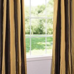 Vintage Romance Faux Silk Taffeta Striped 96-inch Curtain Panel