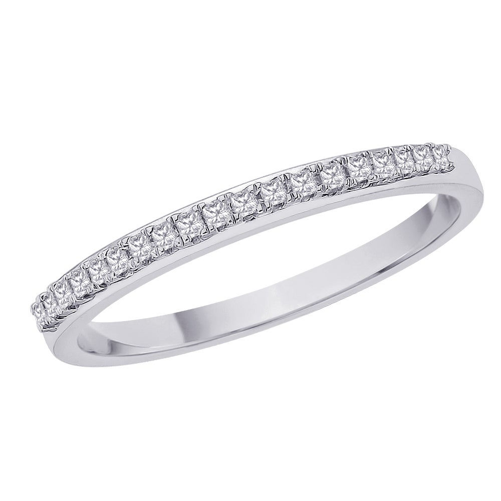 10k White Gold 1/5ct TDW Diamond Women's Wedding Band (H-I, I2-I3)