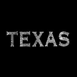 Los Angeles Pop Art Men's Texas Cities Hoodie