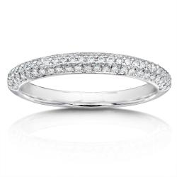 14k White Gold 1/3ct TDW Diamond Wedding Band