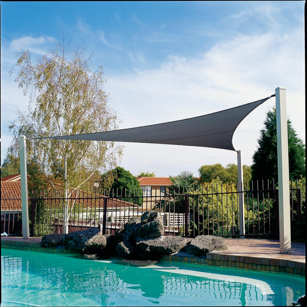 Gale pacific 433505 coolaroo 16 39 5 triangle shade sail for Shade sail cost