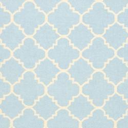 Safavieh Moroccan Light Blue/Ivory Reversible Dhurrie Wool Area Rug (9' x 12')