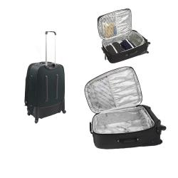 Kenneth Cole Reaction Charcoal Grey Curve Appeal II 4-piece Spinner Luggage Set