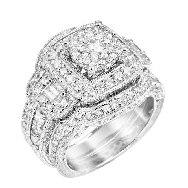 14k White Gold 2 1/6ct TDW White Diamond Ring (G, SI1-SI2)