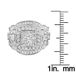 14k White Gold 2 1/6ct TDW White Diamond Ring (G, SI1-SI2)