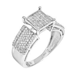 10k White Gold 2/3ct TDW White Diamond Ring (H, I1-I2)