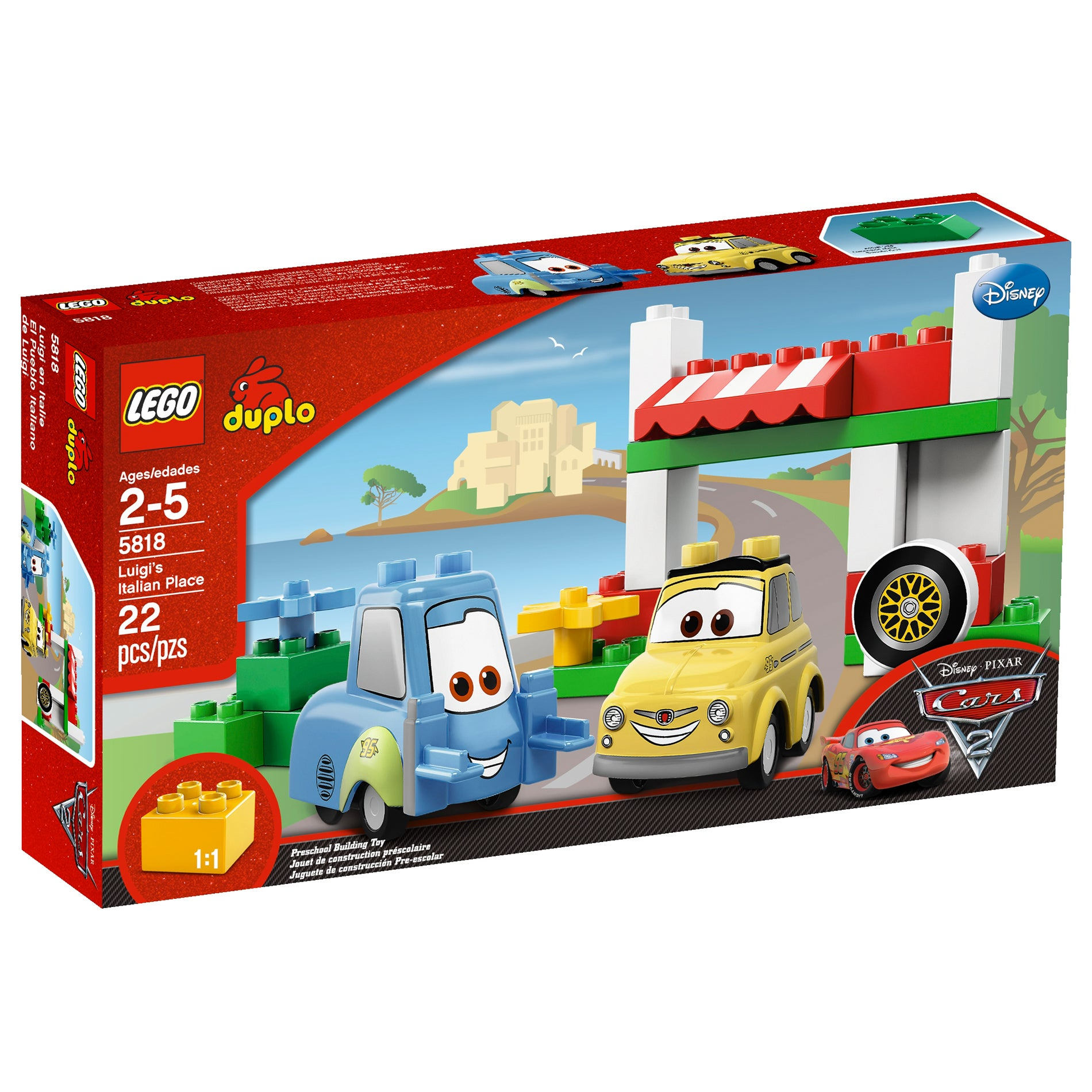 LEGO Cars Luigis Italian Place Toy Set
