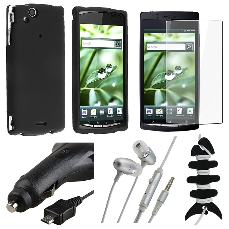 Case/ LCD Protector/ Charger/ Headset for Sony Ericsson Xperia Arc X12