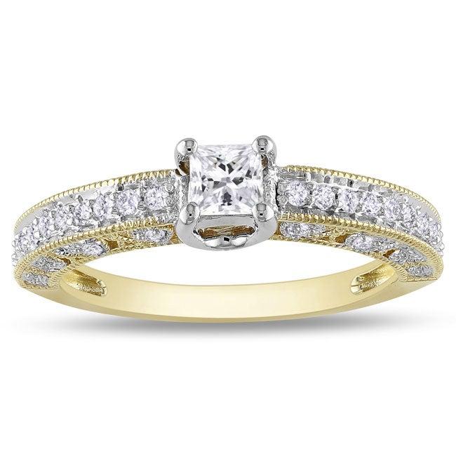 Miadora 14k Two-tone Gold 1/2ct TDW Diamond Ring (G-H, I2-I3)