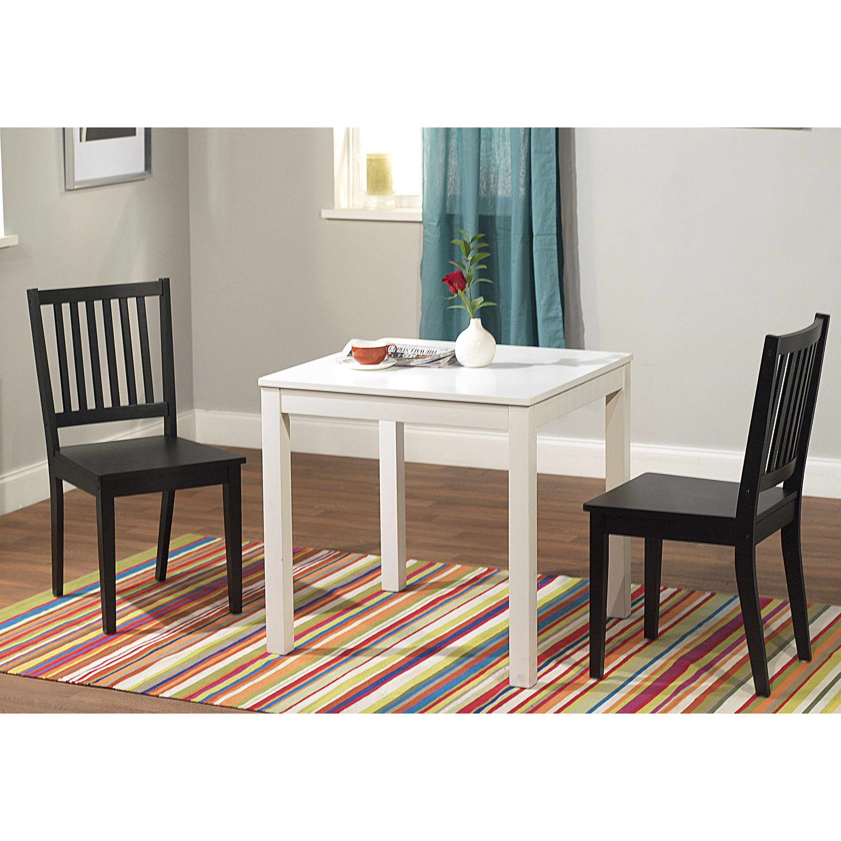 Simple Living Black and White Dining Set 3-piece