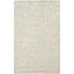 Safavieh Handmade Bliss Beige/ Blue New Zealand Wool Rug (5'x 8')