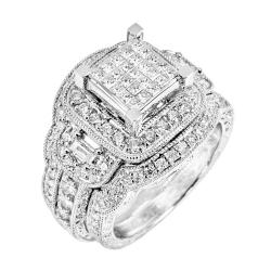 14k White Gold 2ct TDW White Diamond Ring (G, SI1-SI2)