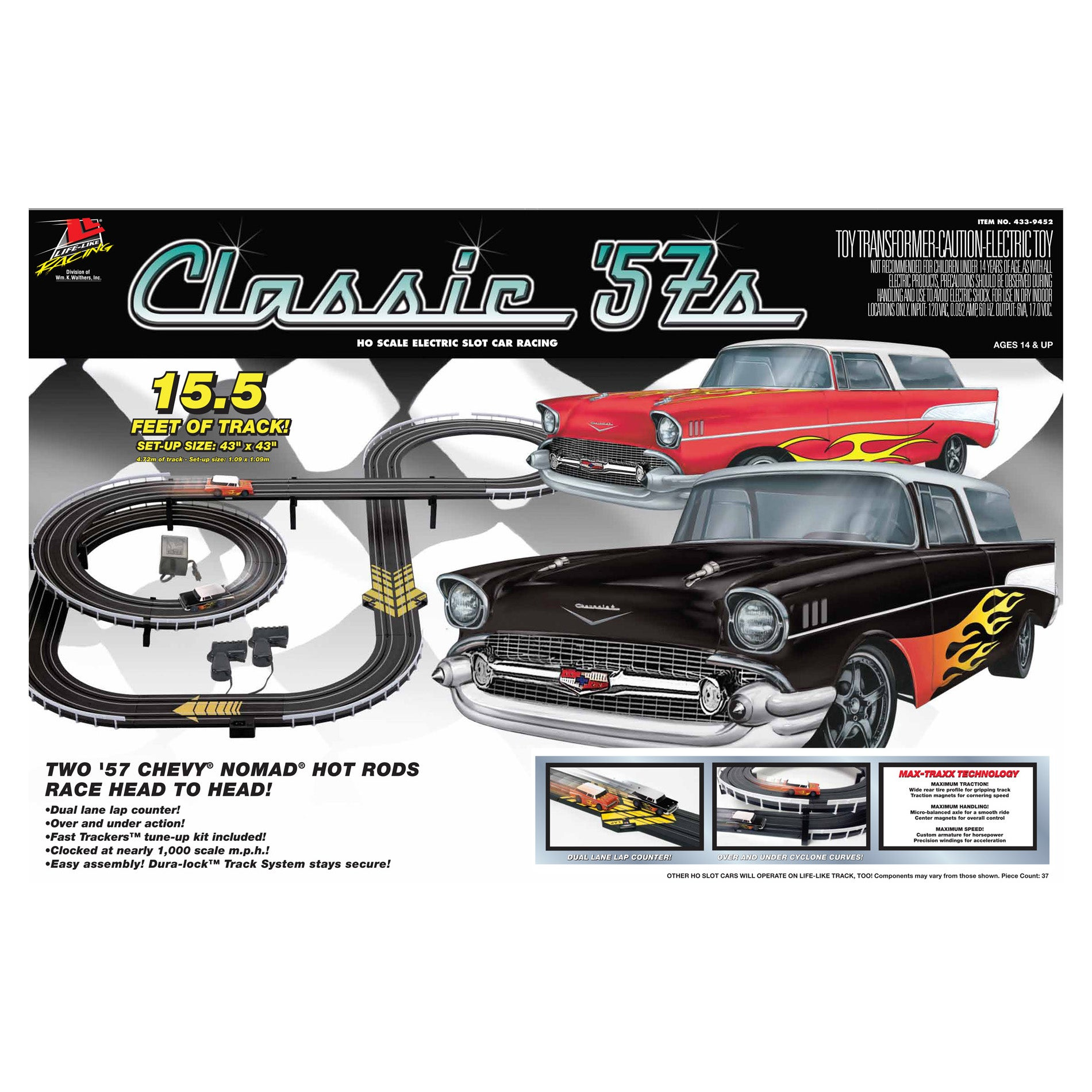 Classic 57's Chevy Nomads Slot Car Racing Set