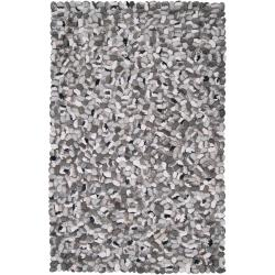 Hand-woven Canistota New Zealand Felted Wool Stone Look Textured Rug (9' x 13')