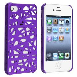 Dark Purple Bird Nest Snap-on Case for Apple iPhone 4/ 4S