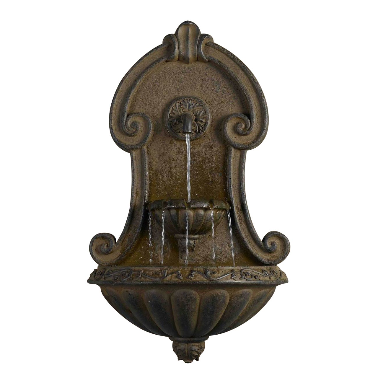 Overstock.com Muro Elegante Copper Finish Wall Water Fountain at Sears.com