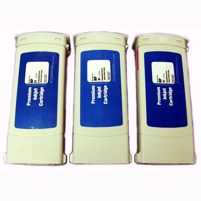 HP 81 Yellow Ink Cartridge (Pack of 3) (Remanufactured)