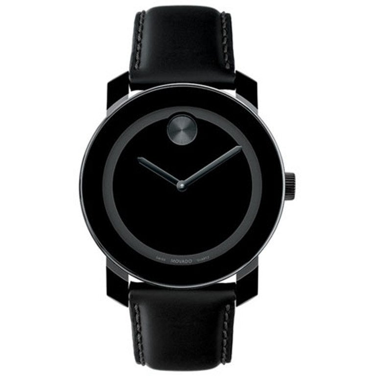 Movado Men's 'Large Bold' Black/ Black Watch